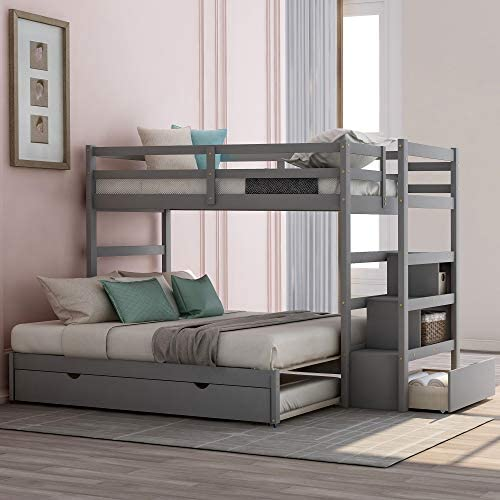 Polibi Stairway Twin Over Twin/King Bunk Bed