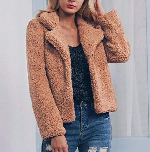 Women Fleece Outwear Open One Shearling AngelSpace Front Winter Trendy Coats xS7H1Bg