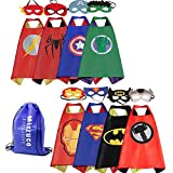 Mizzuco Kids Cartoon Dress up Costumes Satin Capes Felt Masks Exclusive Bag Copslay Birthday Party