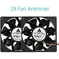 Matoen 2x 6000RPM Cooling Fan Replacement 4-pin Connector For Antminer Bitmain S7 S9