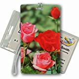 3D Lenticular AllWeather Luggage Tag Plastic Loop Flower, Roses, Bags Central