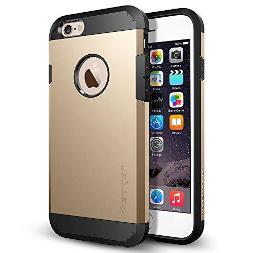 Spigen Schutzhülle iPhone 6 / 6S Hülle TOUGH ARMOR [doppelte Schutzschicht] - Tasche iPhone 6 / 6S, Extrem hoher Fallschutzsch - Champagne gold [Champagne Gold - SGP10970]