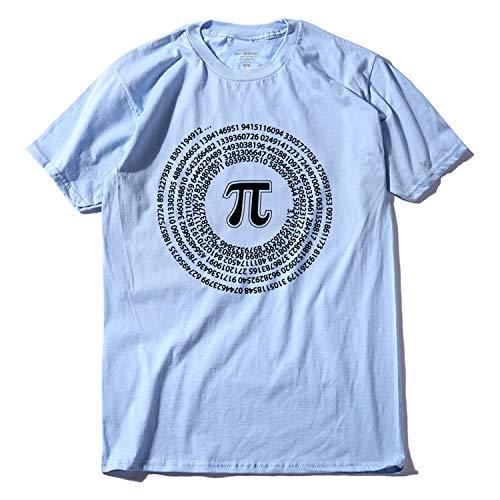 Be fearless 100% Cotton Short Sleeve Math Printed Men T Shirt Casual o-Neck Summer Funny Loose T-Shirt,Q LAN1,XS -