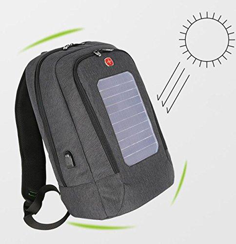 Bolso Carga Impermeable Que Los De Black Y Solar Bolso Al La Aire Mochila Estudiante De Hombres Libre Hombro El Las USB De Del Mujeres Computadora De Del RITF8qawx