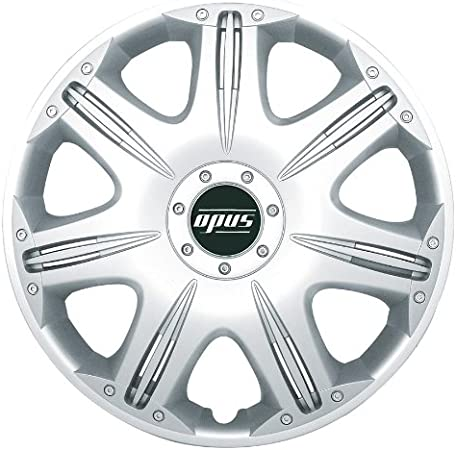 Set of 4 Petex Opus RB530116 Wheel Trims 16 Inch Single Lacquering ABS Plastic in Box Silver