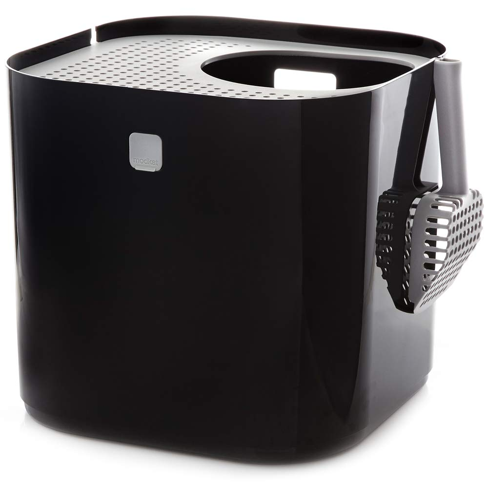 Modkat Litter Box, Reduces Litter Tracking, Includes Scoop and Reusable Liner