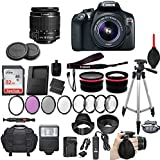 Canon EOS Rebel T6 18 MP DSLR Camera with Canon EF-S 18-55mm f/3.5-5.6 IS II Lens + 2 Auxiliary Lenses + HD Filter Kit + Macro Close-Up Kit + 50 Inch Tripod + Premium Accessory Bundle (21 Items Total)