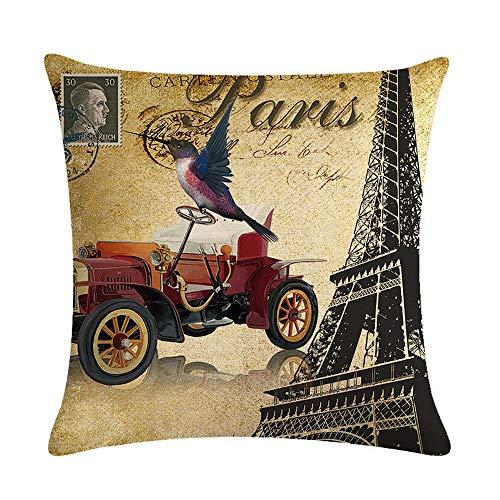 GTQC French Iron Series Linen Hoop Pillowcase Cushion Cover 5 4545cm