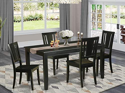 OXAN5-OAK-C 5 PcTable and Chairs set – Table and 4 dinette Chairs