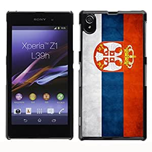 Shell-Star ( National Flag Series-Serbia ) Snap On Hard Protective Case For SONY Xperia Z1 / L39H / C6902 / C6903 / C6906