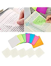 12 Pack Transparent Sticky Note Pads, Sticky Notes, 3x3inches Waterproof Self-Adhesive Memo Papers Message Reminder, Pack of 50, 600 Sheets
