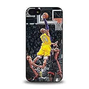 iPhone 5 5S case protective back cover with NBA Los Angeles Lakers Leader No. 24 Kobe Bryant known as Black Mamba #6