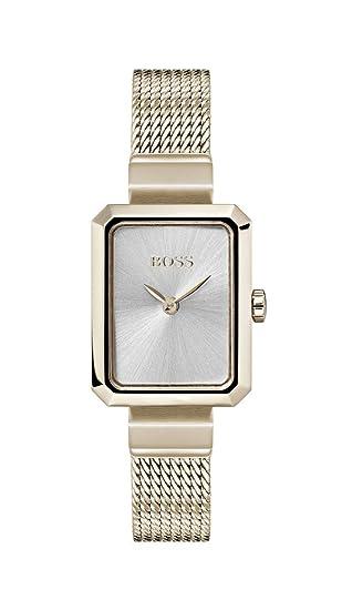 Hugo Boss Watch Reloj Analógico para Mujer de Cuarzo con Correa en Oro Rosa 1502432: Amazon.es: Relojes