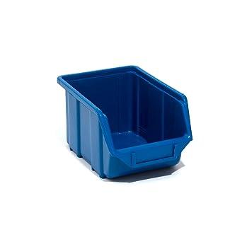 scatole impilabili Blau 1 Box Contenitore per materiali industriali contenitori da 3,5 litri magazzini 1 stabile scaffale
