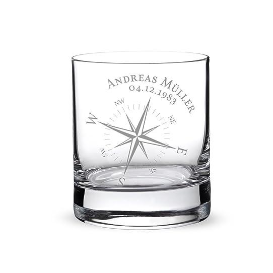 Verre À Whisky Avec Gravure Personnalisée [Nom] Et [Date