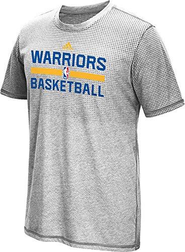 Golden State Warriors Men's Grey Aeroknit climacool T-shirt X-Large