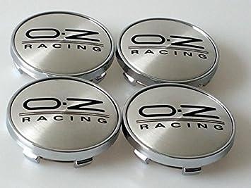 4 tapas de centro de rueda, cubo de aleación 60mm, tapones para carreras, color plateado/negro.: Amazon.es: Coche y moto