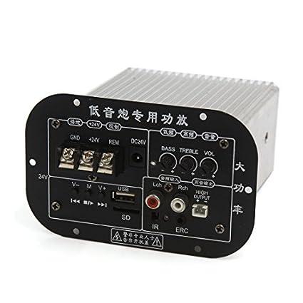 Módulo Junta eDealMax DC 24V de Audio estéreo Digital de potencia Subwoofer Amplificador Para el coche