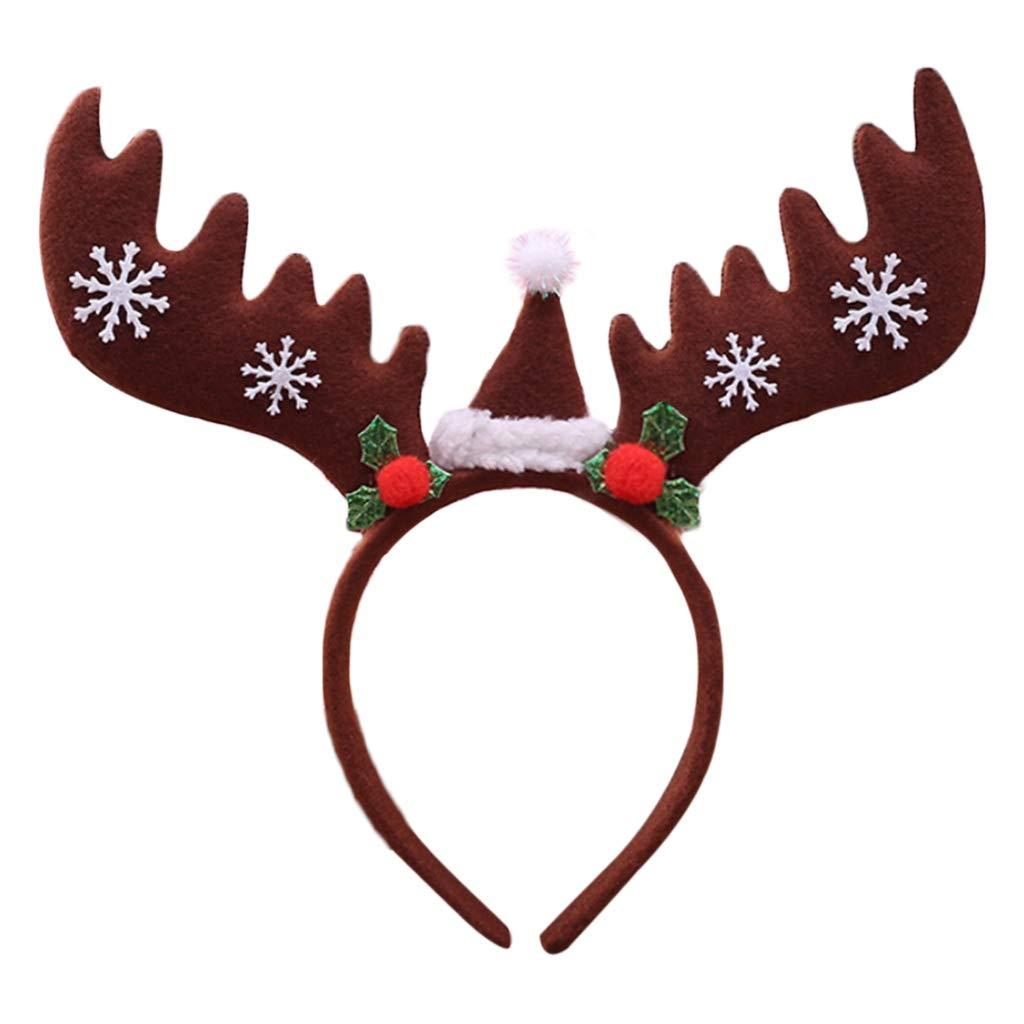 Cuigu Weihnachten Haarband, Große Pailletten Geweihe Haarband ...