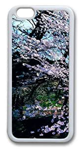 Cherry Blossom Trees TPU Silicone Case Cover for iphone 6 plus 5.5 inch White