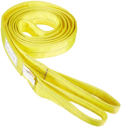 Choker Hook (Indusco 77865751 Type 3 Nylon Flat Eye Synthetic Sling, 2 Ply, 6400 lbs Vertical Load Capacity, 20' Length x 2