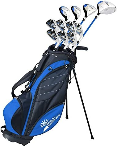 Palm Springs Golf VISA Mens 1 TALL GRAPHITE STEEL Club Set Stand Bag