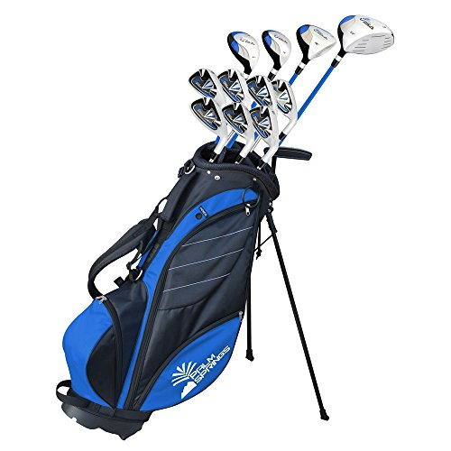 sa V2 Mens Graphite & Steel Club Set & Stand Bag ()