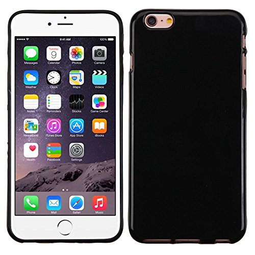 Asmyna Cell Phone Case for Appel iPhone 6S Plus - Glossy Jet Black