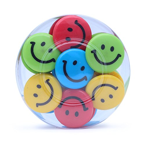 Lucky Cion 30mm Smile Whiteboard/Refrigerator Magnet 30pcs/Tub Display-Assorted Colors Photo #5