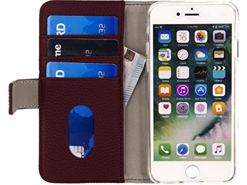 Mobilize Smartphone Gelly Wallet Book Case Apple iPhone 7 Burgundy [MOB-23378]
