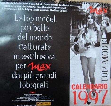 Calendario Max 1997.Amazon It Rivista Max Calendario Top Model 1997 Aa Vv