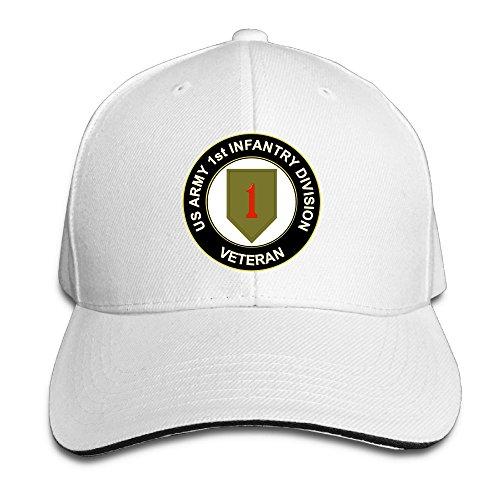 - GENZHESI US Army Veteran 1st Infantry Division Adjustable Baseball Hat Dad Hats Trucker Hat Sandwich Visor Cap