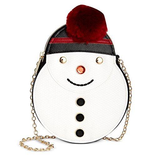 - Celebrate Shop Holiday Snowman Crossbody Handbag, White