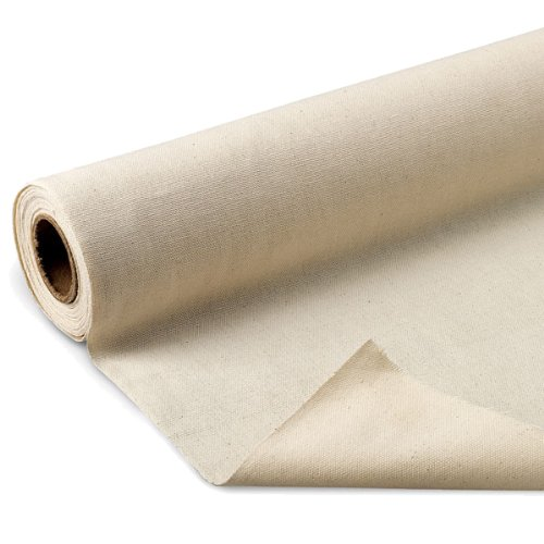 Nasco 1100424 Fine Arts Unprimed Cotton Canvas Roll, 6 yds x 62 6 yds x 62