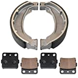 Caltric FRONT BRAKE PADS & REAR BRAKE SHOES Fits HONDA TRX250EX TRX-250EX SPORTRAX 250 250EX 2001-2008 NEW