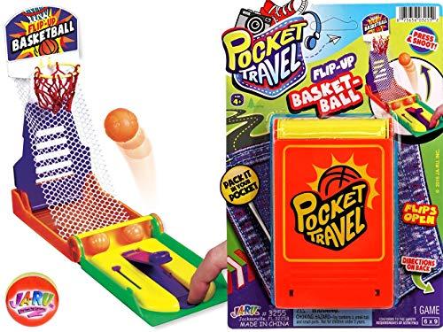 (JA-RU Basketball Pocket Travel Game and one Bouncy Ball Item)