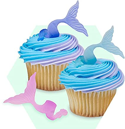 Under The Sea Animals {blue} Edible Cupcake Toppers Decoration Baking Accs. & Cake Decorating