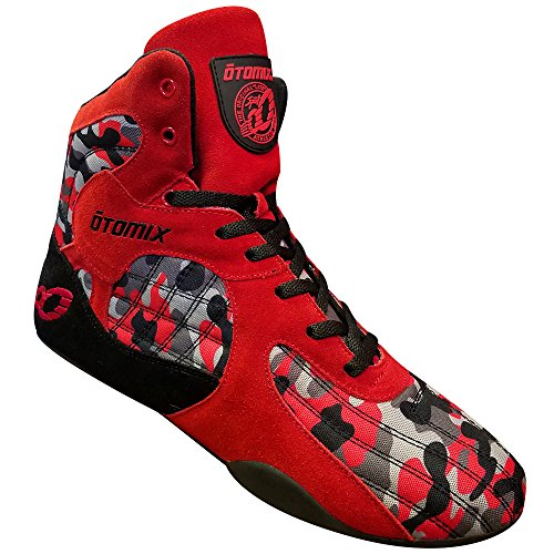 Otomix Men's Stingray Escape Bodybuilding Lifting MMA & Wrestling Shoes Red/Camo 8 (Best Women's Shoes For Weightlifting)
