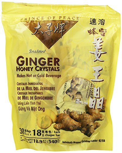 : Instant Ginger Honey Crystals Pack of 30 Bags - 18 g Sachets