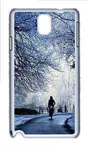 Winter Road Scene Custom Samsung Galaxy Note 3/ Note III / N9000 - Polycarbonate - White