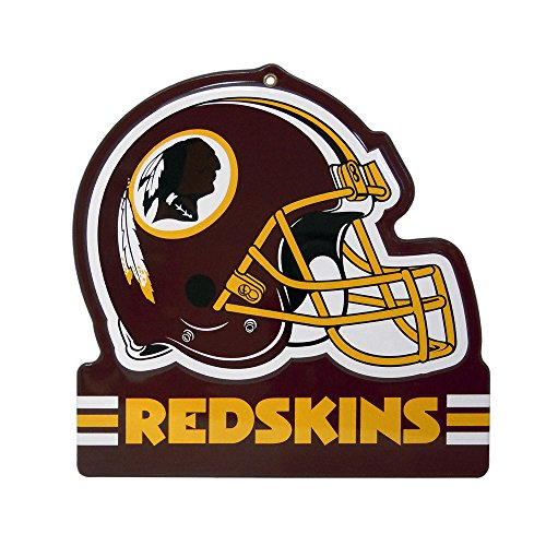 - Party Animal Washington Redskins Embossed Metal NFL Helmet Sign, 8