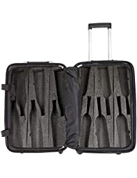 Up to 12 Bottles & All Purpose Wine Travel Suitcase (Silver)