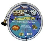 Valterra AquaFresh High Pressure Drinking Water Hose, Water Hose Hookup for RV - 1/2' x 10', White