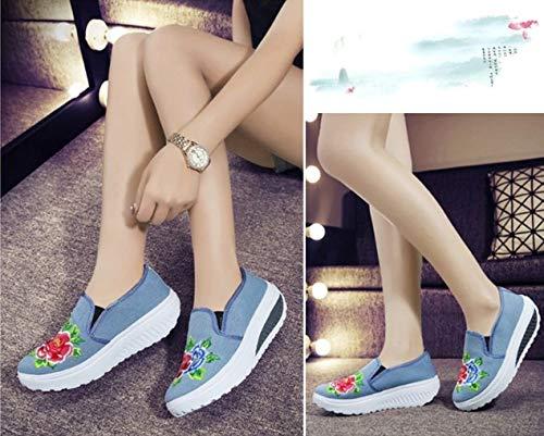 Stampa Traspiranti Dimensioni Piatte Calzature Di Casual Sportive Donna Ysfu Da Sneakers Sneaker Antiscivolo Floreale Scarpe Grandi 6Tnq8AZn
