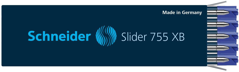 10 x Schneider Slider 755 XB Pen Refill, Blue