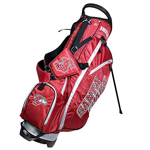 Team Golf NCAA Santa Clara Broncos Fairway Golf Stand Bag, Lightweight, 14-way Top, Spring Action Stand, Insulated Cooler Pocket, Padded Strap, Umbrella Holder & Removable Rain Hood (Santa Stand)