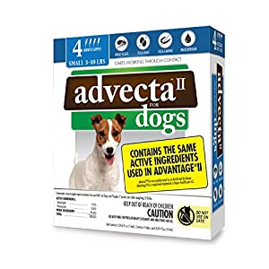 Advecta II Flea and Tick Topical Treatment, Flea and Tick Control for Dogs, 4 Month Supply 1