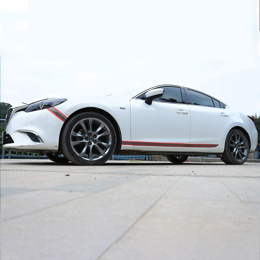 Garniture de seuil de porte de voiture pare-chocs/-/Stylingcar universel en fibre de carbone Autocollant de voiture Protector flexible et pliable de seuil de porte Bumper lumi/ère Wight