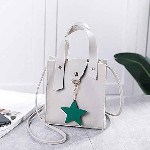 Small Shoulder Fashion Chain NXDA Star Ladies with Cute Gray Leather Pendant Black Crossbody Women Pu Purse Bag Backpack Bag Satchel fwpAXw