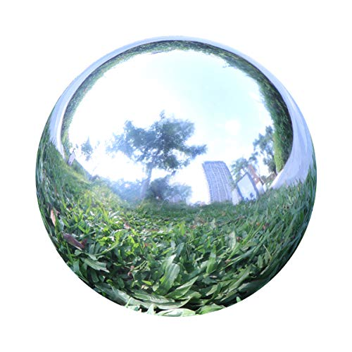 YeahaWo Gazing Balls for Garden, Home Outdoor Hollow Sphere Stainless Steel Gazing Globe Mirror Ball (3 Inch)